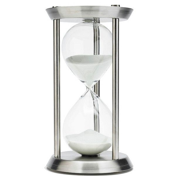 60 Minute Nautical Metal Sand Timer Justhourglasses