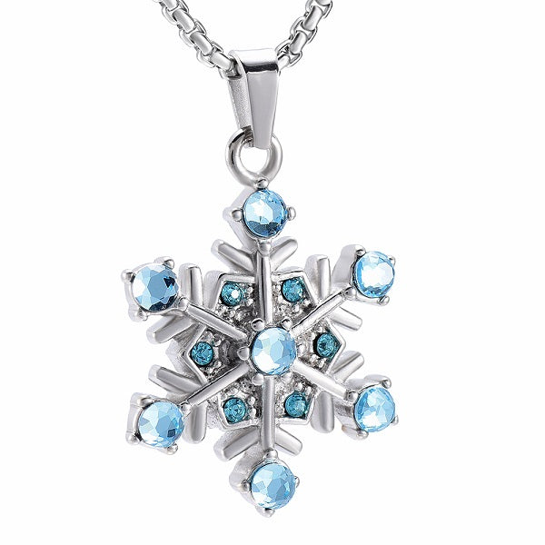 Snowflake Keepsake Necklace or Keychain