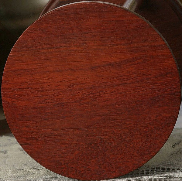 Solid Padauk Hourglass With Smooth Spindles