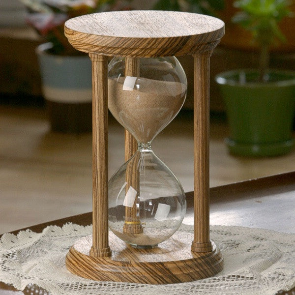 Solid Zebrawood Hourglass With Smooth Spindles