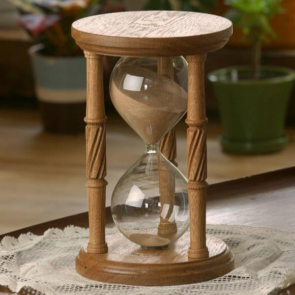 Solid White Oak Hourglass Urn