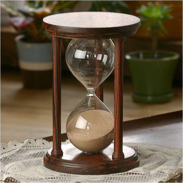 ccd4fb9e6c5 Solid Cocobolo Wood Hourglass With Smooth Spindles - JustHourglasses