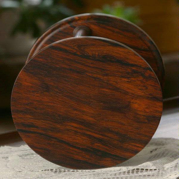 Solid Cocobolo Wood Hourglass With Spiral Spindles