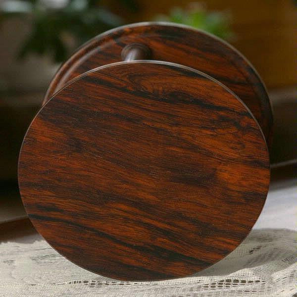 Solid Cocobolo Hourglass Urn