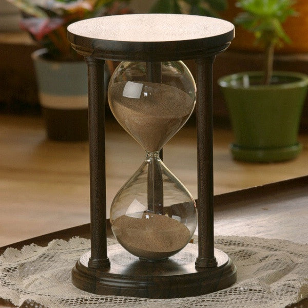 Solid Ziricote Wood Hourglass With Smooth Spindles