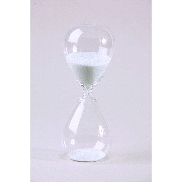 30 Minute Tall Modern Glass Timer - Black or White