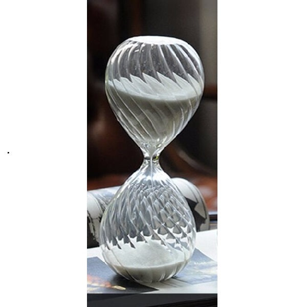 Freestanding Swirled Hourglass 60 Minute - Black or White