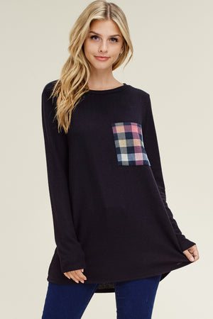 I Love My Checkers Pocket Top, New Arrivals, BomBom - thirtynine99