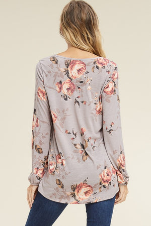 Cameron Floral Top, New Arrivals, BomBom - thirtynine99