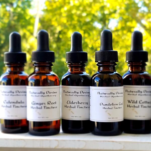 Single Herb Tinctures - Naturally Devine Herbal Apothecary
