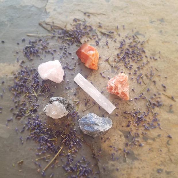 Womb Wellness Crystal & Stone Set, Womb Crystal & Stone Set, Naturally Devine Wellness, Naturally Devine Herbal Apothecary