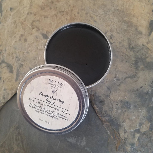 Black Drawing Salve, Herbal Salves, Naturally Devine Wellness