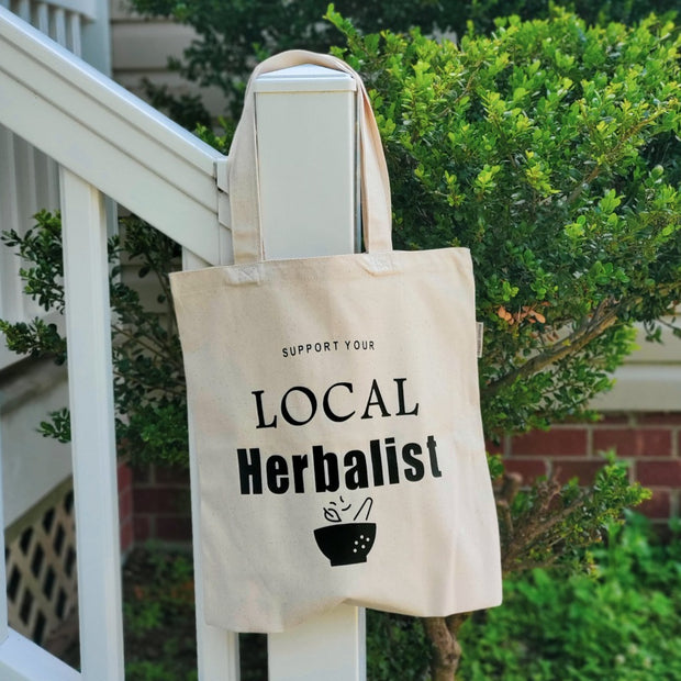 Support Your Local Herbalist Tote Bag, Naturally Devine Wellness