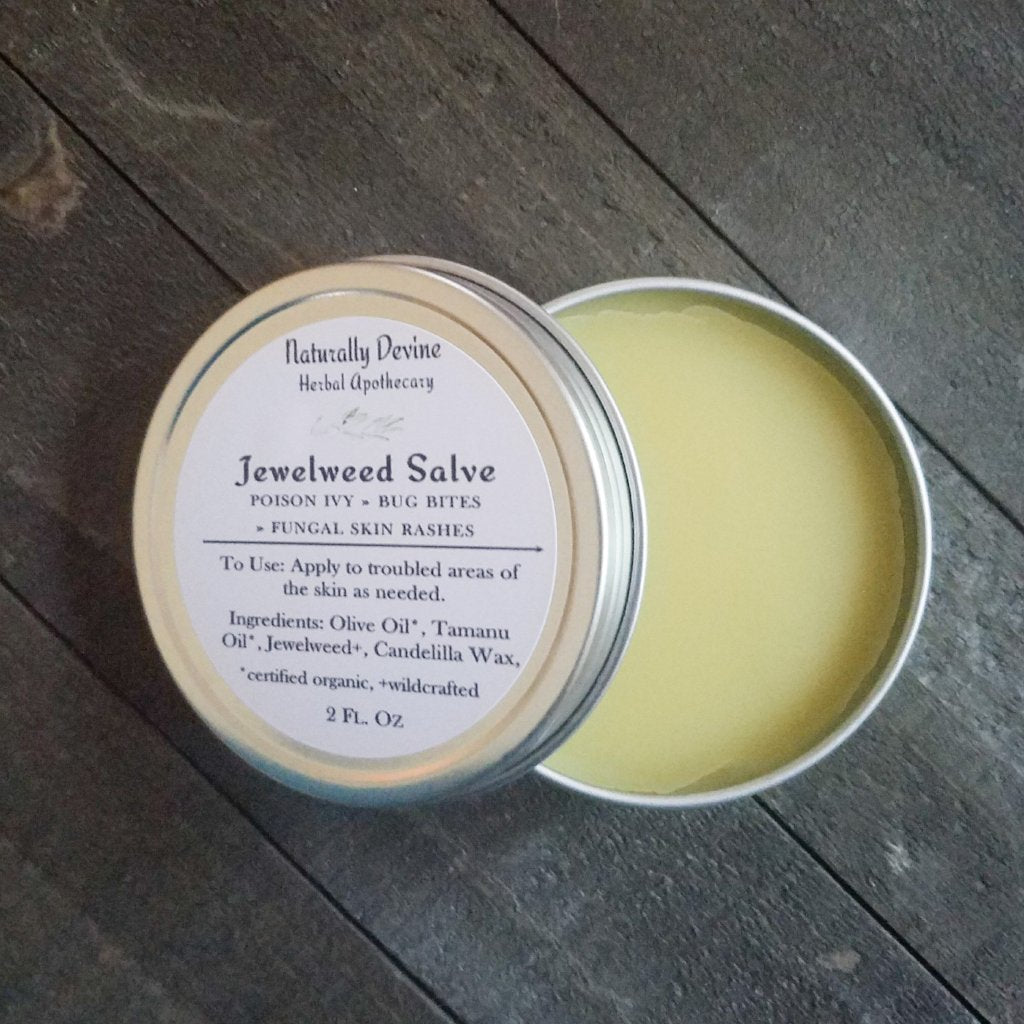 Jewelweed Salve, Jewelweed Salve, Naturally Devine Wellness, Naturally Devine Herbal Apothecary