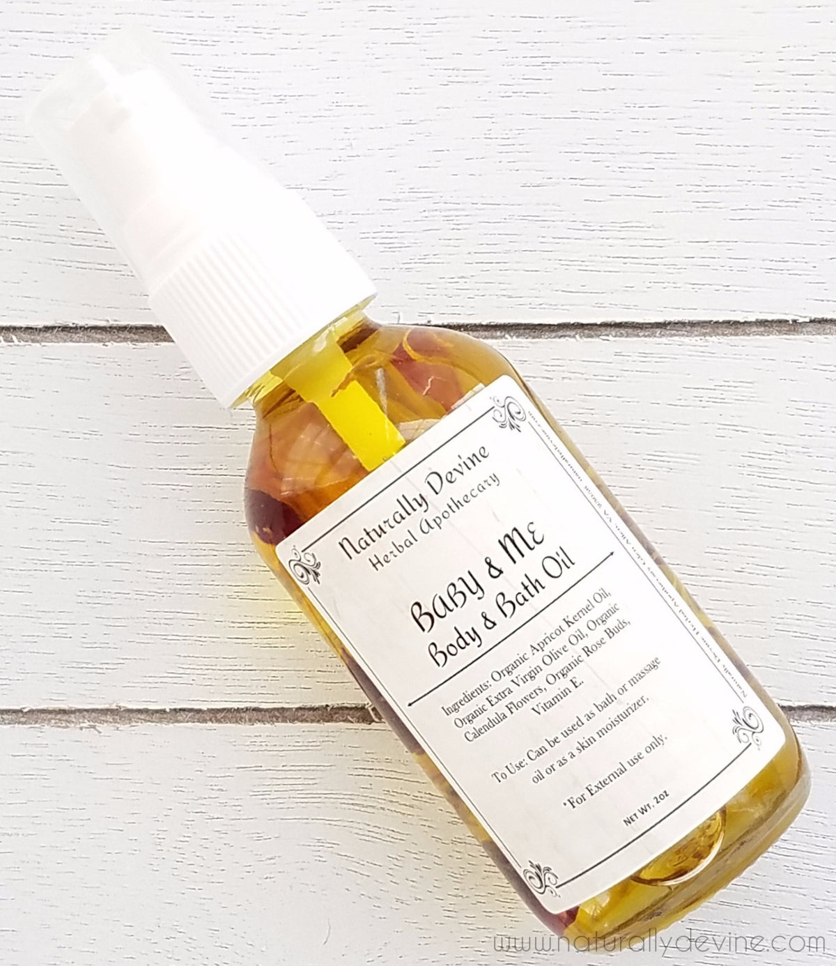 Baby & Me Body Oil by Naturally Devine Herbal Apothecary