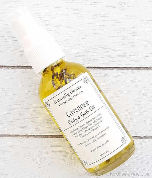 Lavender Body Oil by Naturally Devine Herbal Apothecary