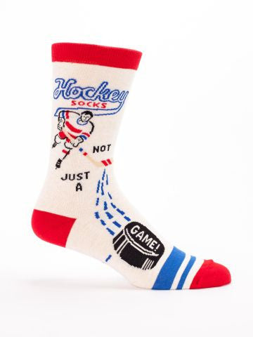 HOCKEY - MEN'S CREW SOCKS - BLUE Q