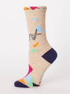 You Crafty Bitch - Women's Crew Socks - Blue Q