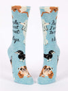 People I Want To Meet: Dogs - Women's Crew Socks - Blue Q