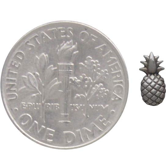 Super Duper Tiny Pineapple .925 Sterling Silver Earring