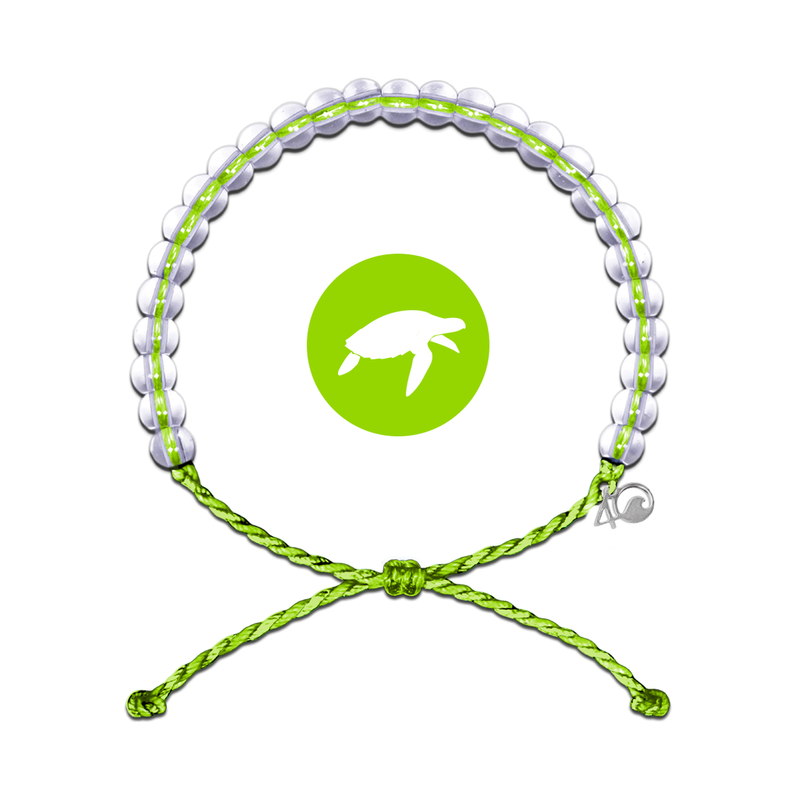 4ocean Sea Turtle Lime Bracelet
