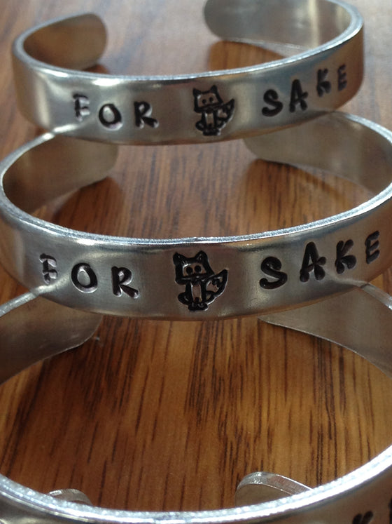 For Fox Sake hand stamped bracelets