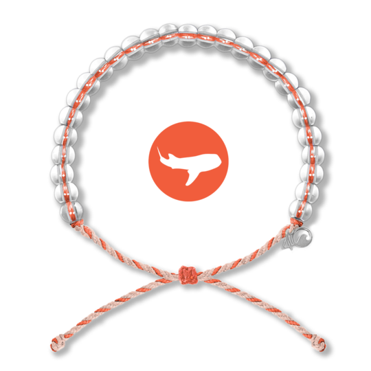 4ocean Whale Shark Orange/Tan Bracelet
