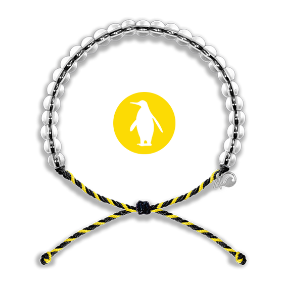 4ocean Penguin Black/Yellow Bracelet