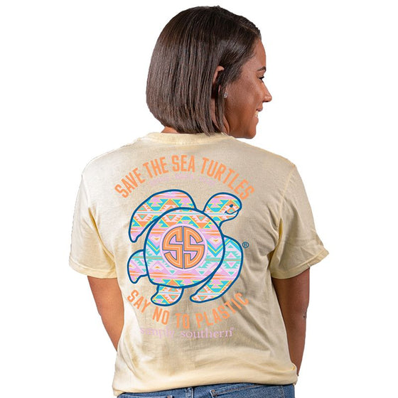 Simply Southern Save The Sea Turtles Aztec Adult Tee