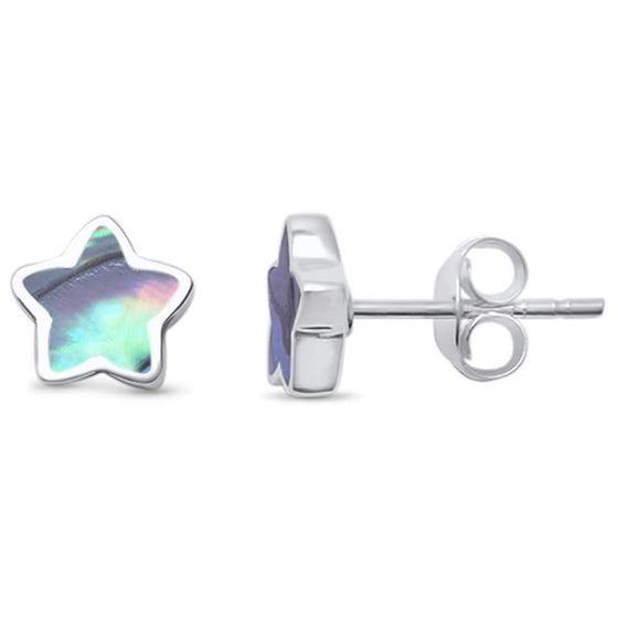 Abalone Star Stud .925 Sterling Silver Earring