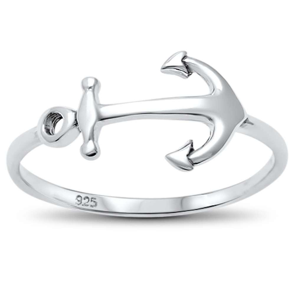 Anchor Ring / .925 Sterling Silver / Super Cute