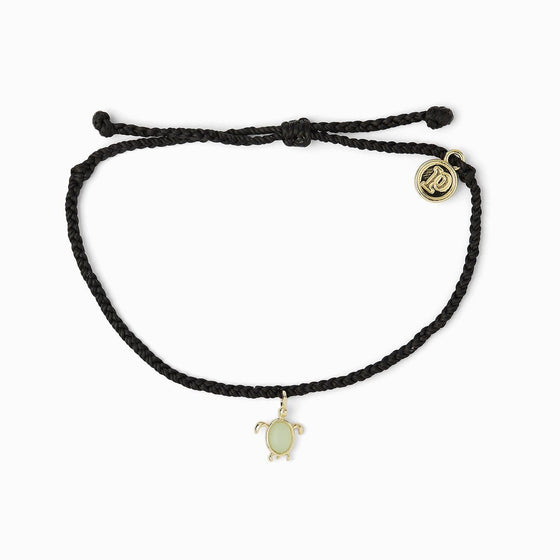 Pura Vida Bracelet - Black Save the Sea Turtles Charm