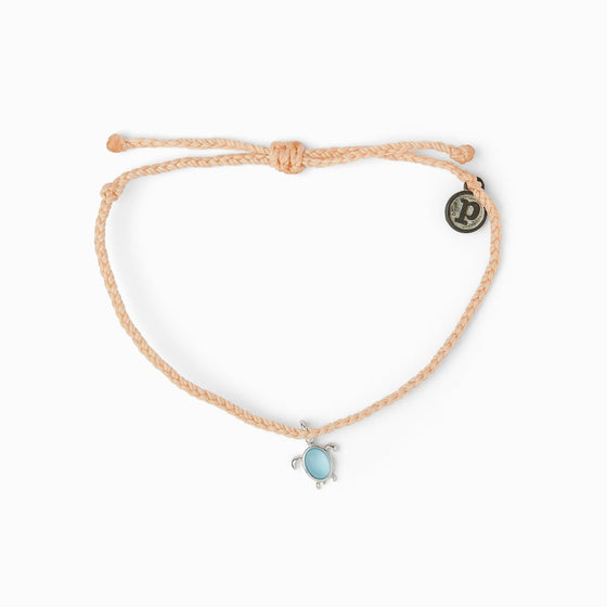 Pura Vida Bracelet - Blush Save the Sea Turtles Charm