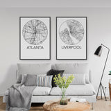 Decorate your home or office with a Atlanta, Georgia Minimalist City Map Print from The Neighbourhood Unit