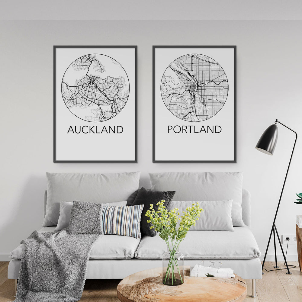Decorate your home or office with a Auckland, New Zealand Minimalist City Map Print from The Neighbourhood Unit