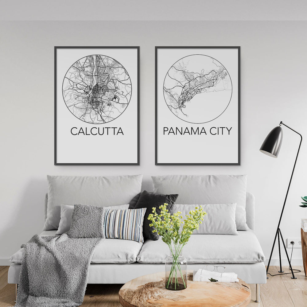 Decorate your home or office with a Calcutta, India Minimalist City Map Print from The Neighbourhood Unit