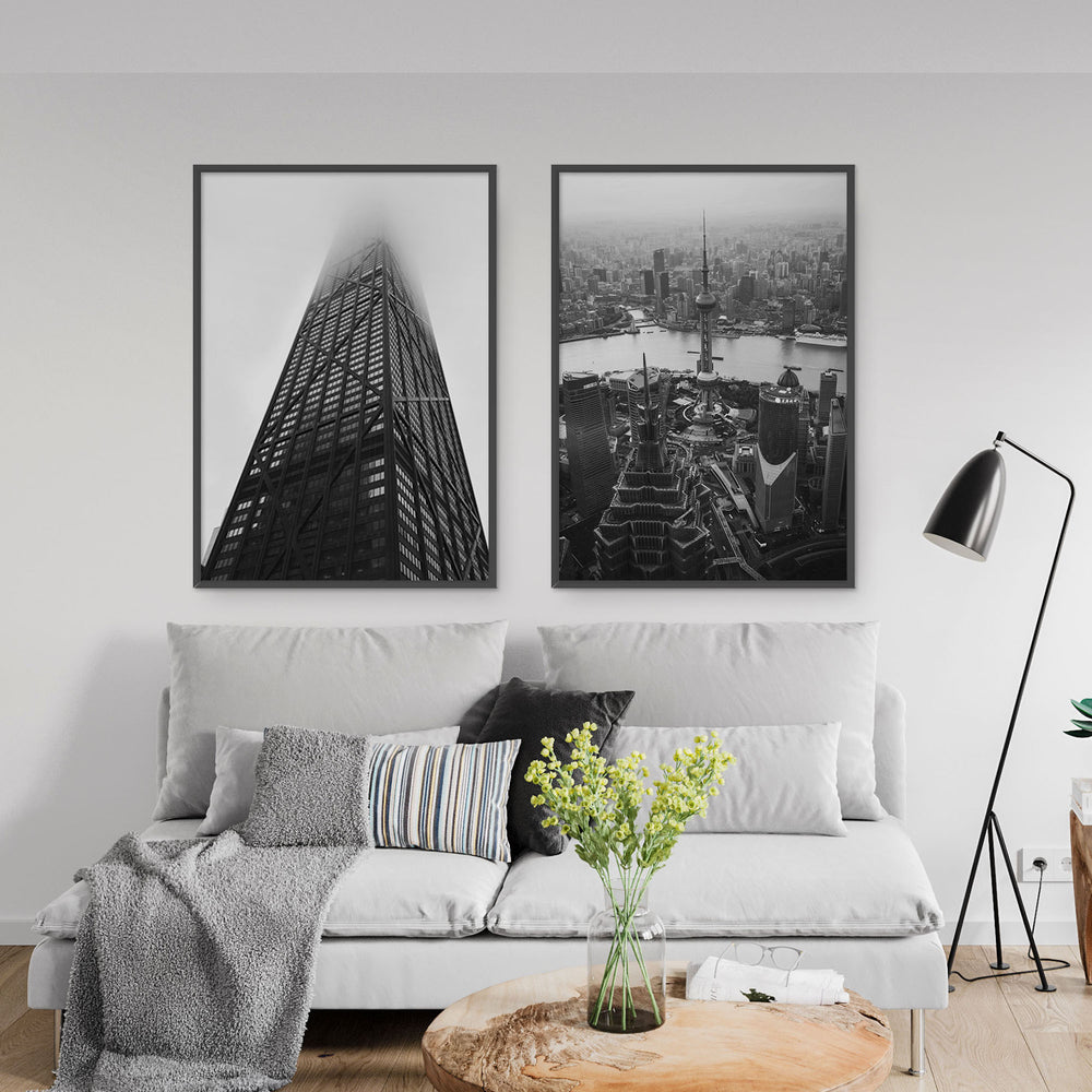 Decorate your home or office with a Chicago Federal Center Black & White Photo from The Neighbourhood Unit