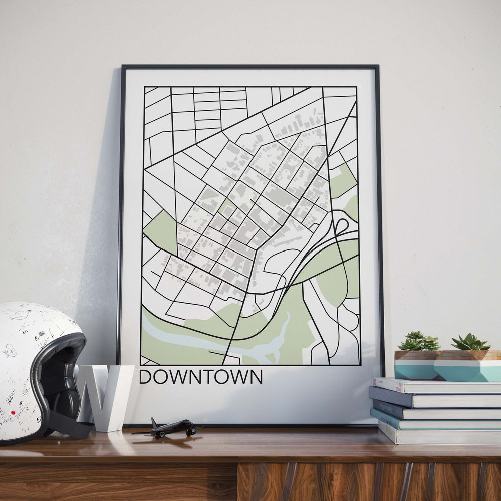 Decorate your home or office with a Downtown, St. Catharines Neighbourhood Map from The Neighbourhood Unit