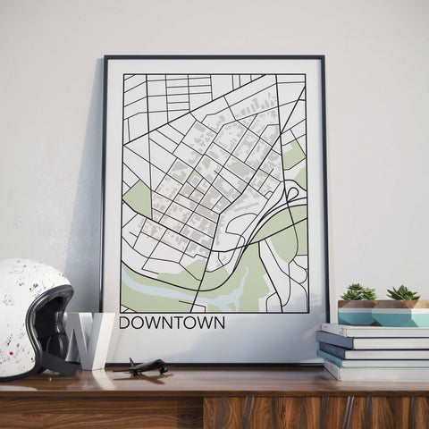 Downtown, St. Catharines Neighbourhood Map