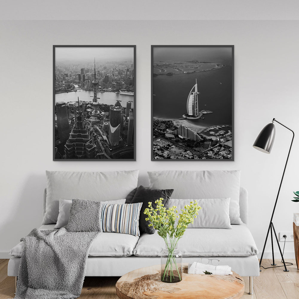 Decorate your home or office with a Dubai Burj Al Arab Black & White Photo from The Neighbourhood Unit