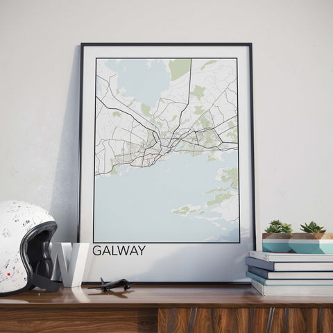 Galway, Ireland Minimalist City Map Print