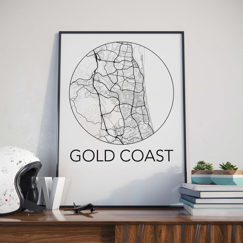 Gold Coast, Australia Minimalist City Map Print