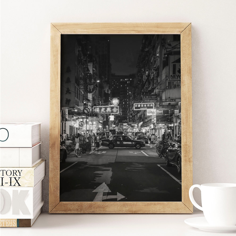 Decorate your home or office with a Hong Kong Yau Ma Tei Black & White Photo from The Neighbourhood Unit