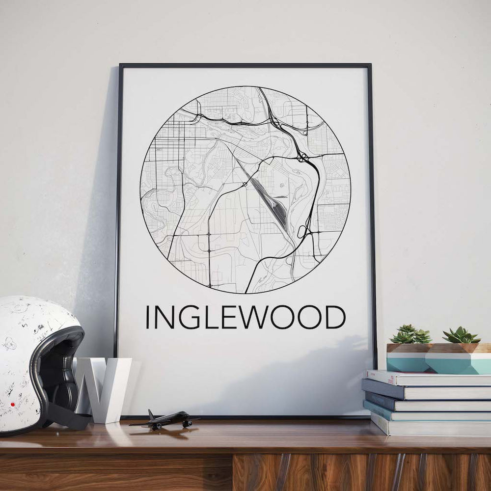 Decorate your home or office with a Inglewood, Calgary Neighbourhood Map from The Neighbourhood Unit