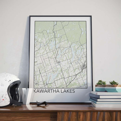 Kawartha Lakes, Ontario Minimalist City Map Print