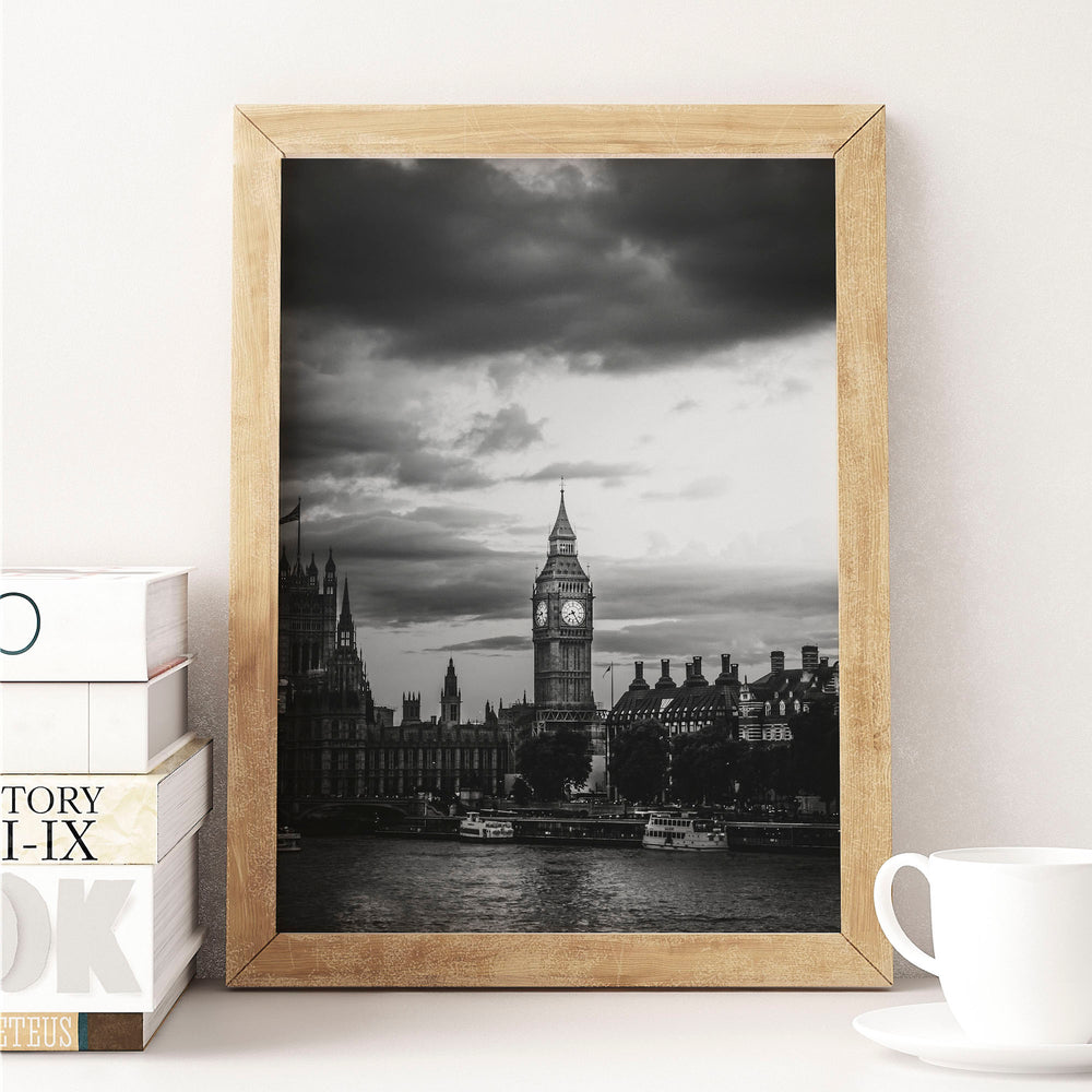 Decorate your home or office with a London Big Ben Black & White Photo from The Neighbourhood Unit