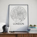 London, Ontario Minimalist City Map Print