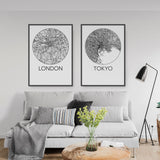 Decorate your home or office with a London, England Minimalist City Map Print from The Neighbourhood Unit