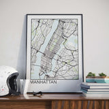 Decorate your home or office with a Manhattan, New York Minimalist City Map Print from The Neighbourhood Unit