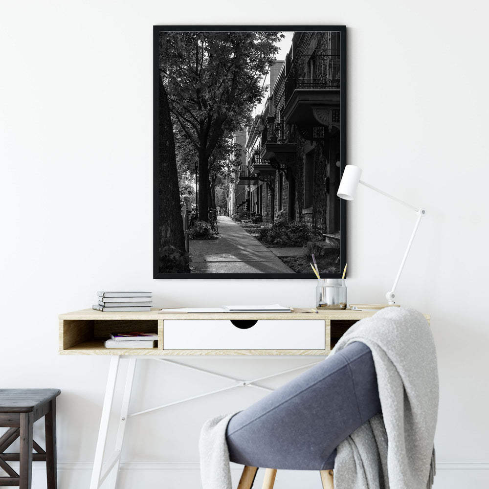 Decorate your home or office with a Montreal Street Black & White Photo from The Neighbourhood Unit
